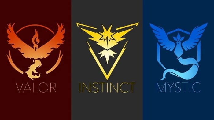 Pokémon Go - Description of Valor, Mystic and Instinct