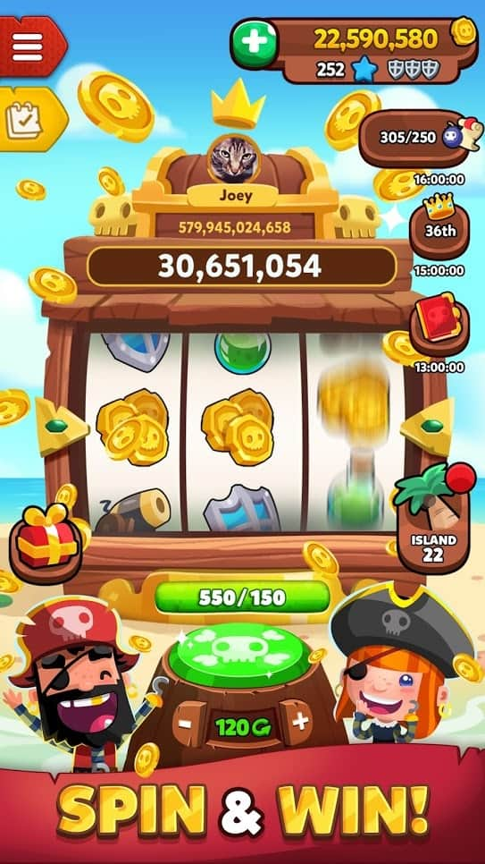 free spins on pirate kings